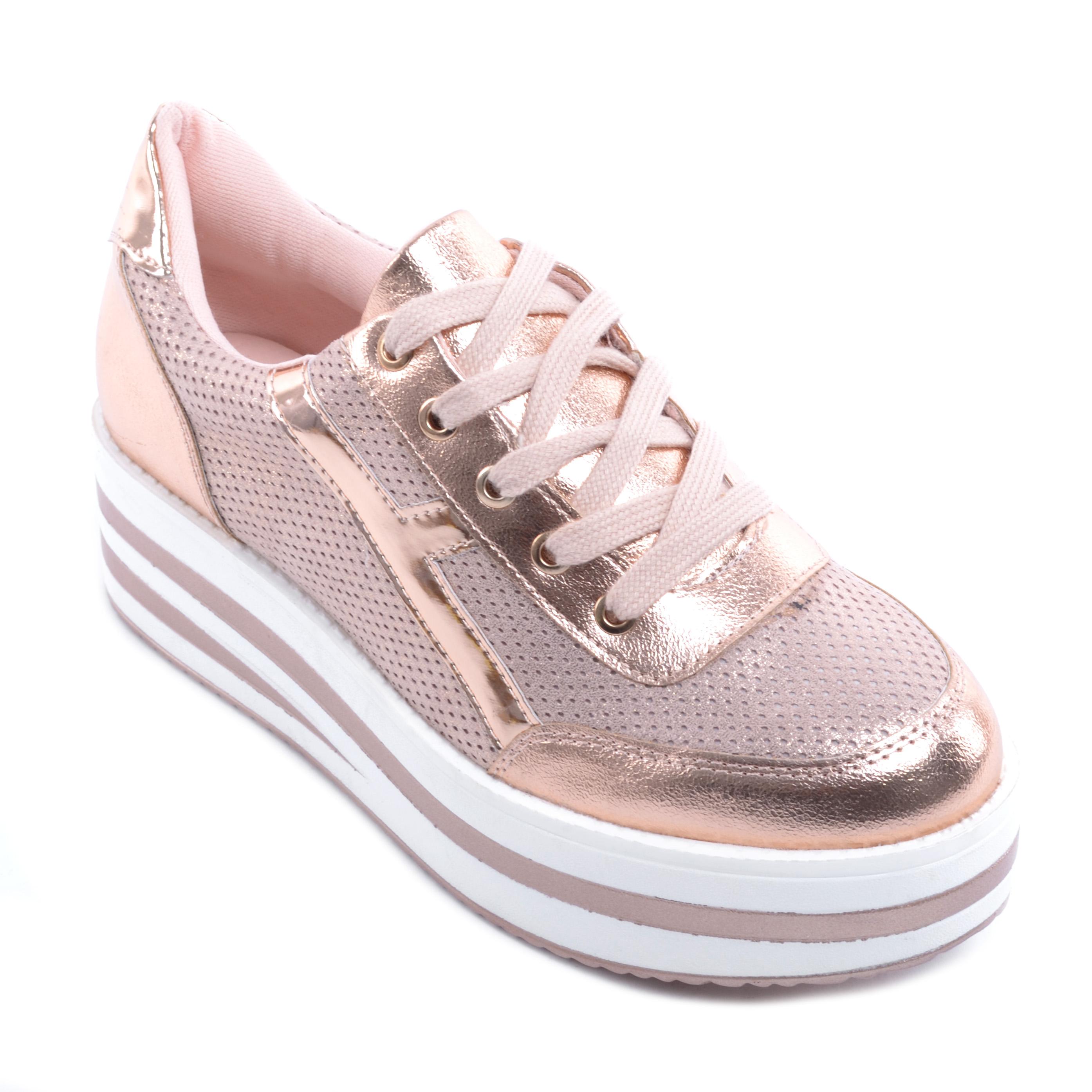 Rózsaarany Női Platform Cipő - MAGAS TALPÚ - Női cipő webáruház-női  csizmák 4effd06417