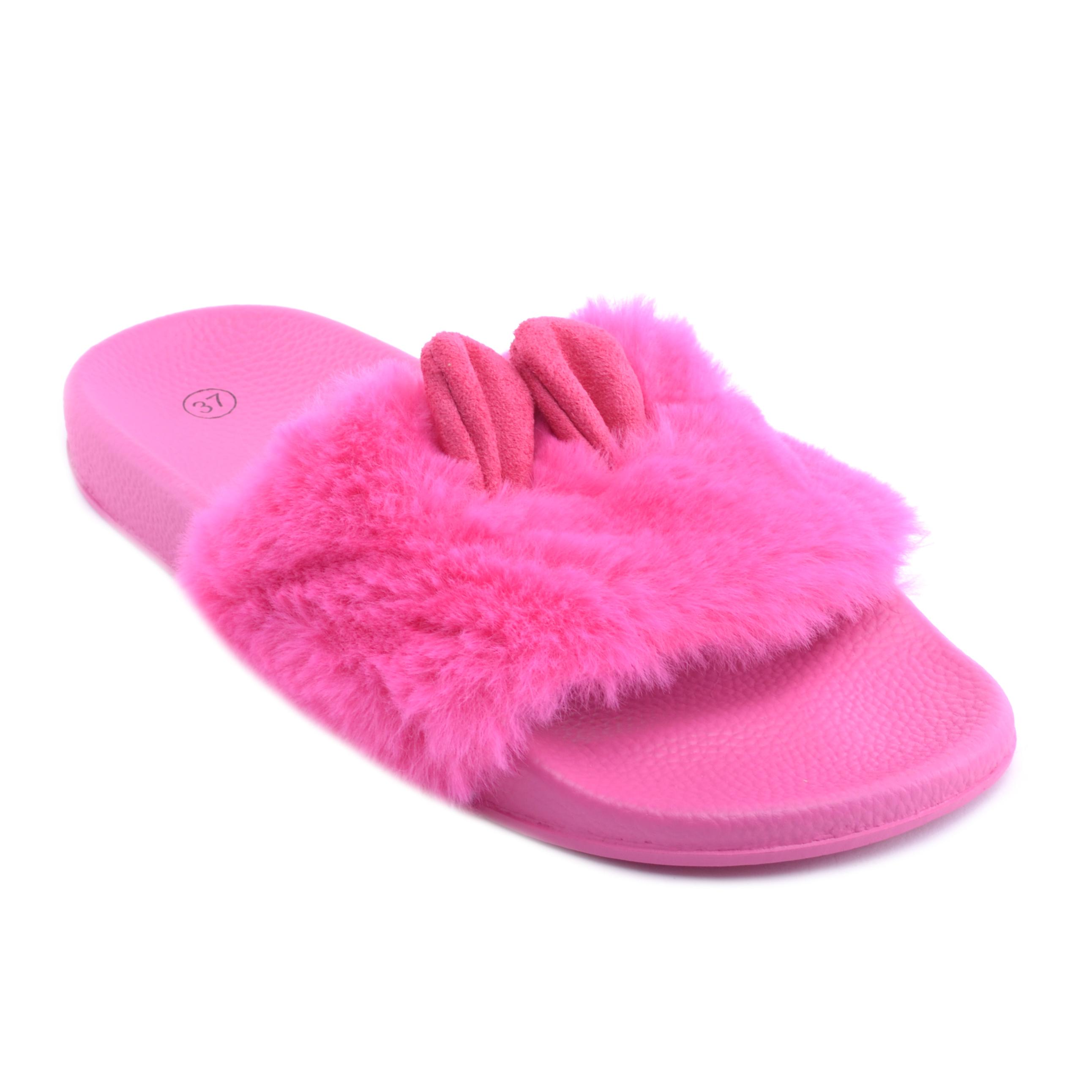 c29921adba Női Szőrmés Papucs Nyuszifüllel Pink - MAMUSZ - Női cipő webáruház-női  csizmák, női bakancsok, magassarkúk, női gumicsizma, magassarkú csizma, ...