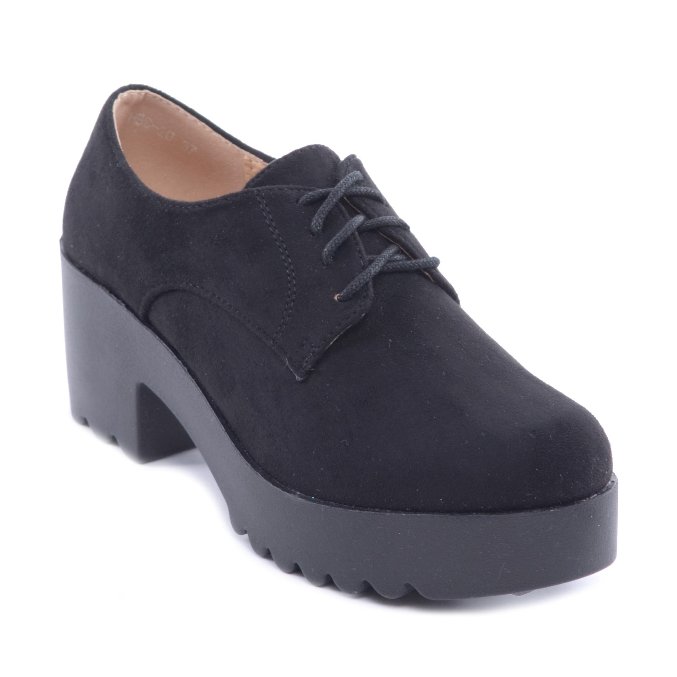 Női Magasított Talpú Félcipő Fekete - MAGAS TALPÚ - Női cipő webáruház-női  csizmák 3e84461b02