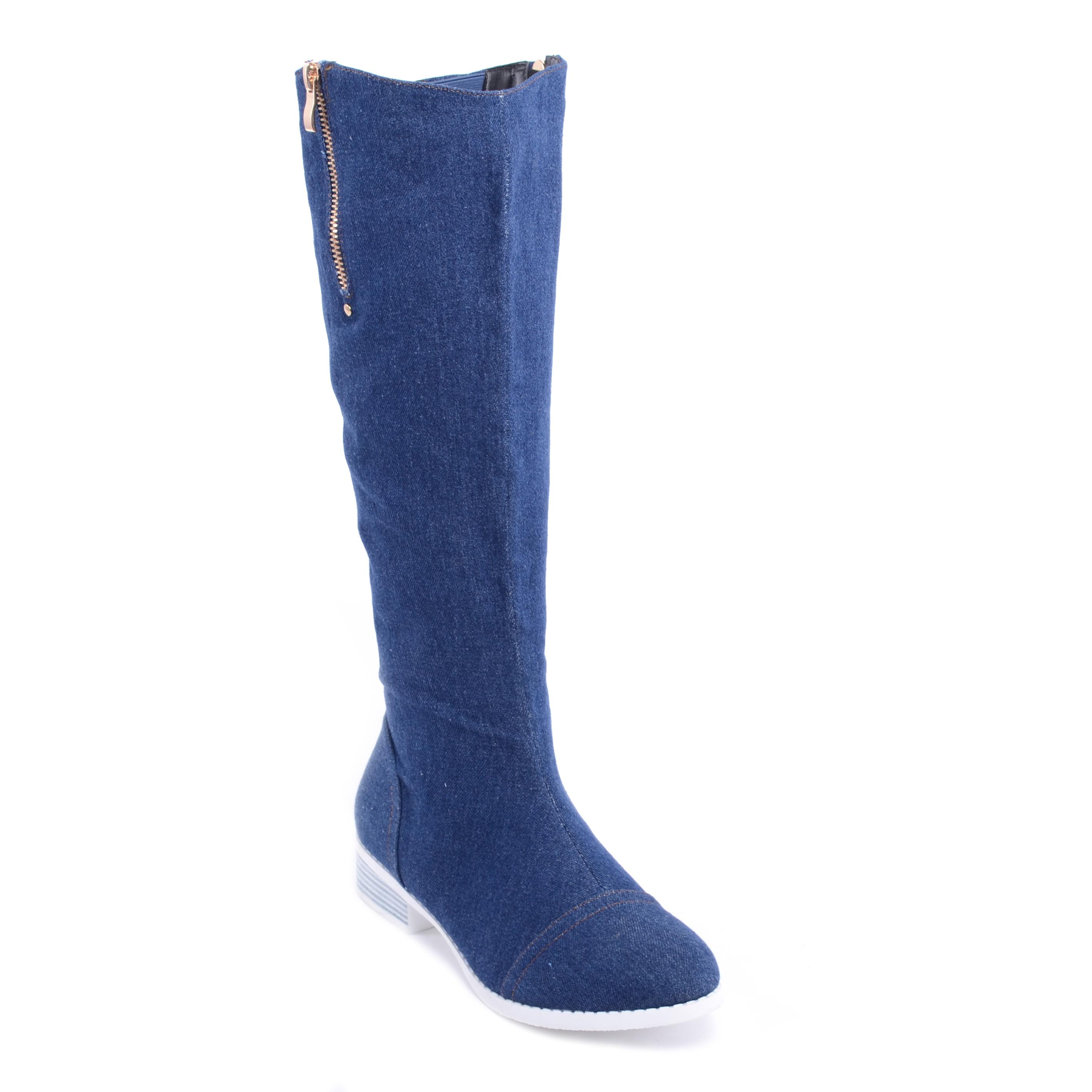 7340c49607 Női Farmer Magassarkú Csizma Sötétkék - MAGASSZÁRÚ CSIZMÁK - Női cipő  webáruház-női csizmák, női bakancsok, magassarkúk, női gumicsizma, magassarkú  csizma, ...