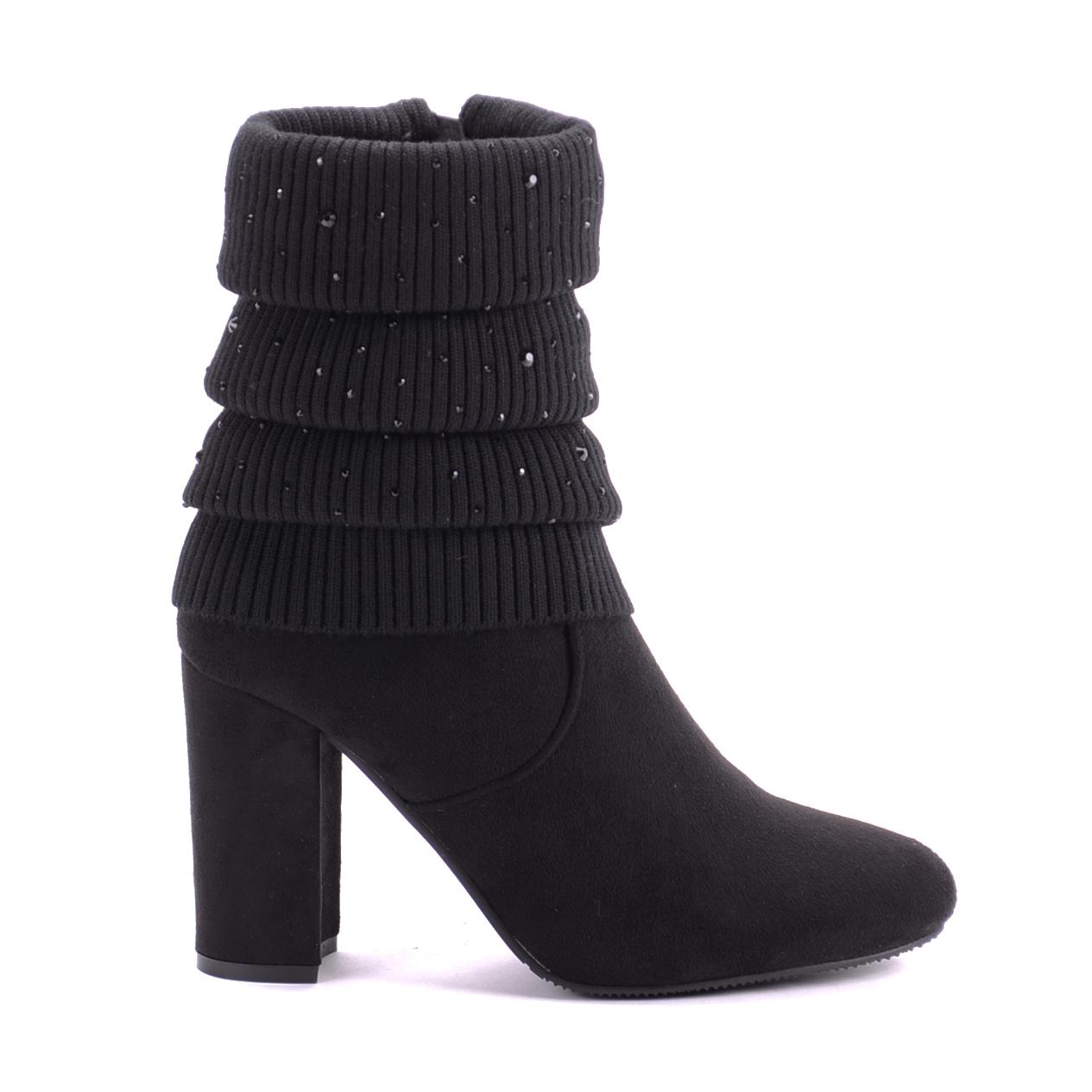 Seastar Fekete Női Művelúr Bakancs - BOKACSIZMÁK - Női cipő webáruház-női  csizmák ac11af44b9